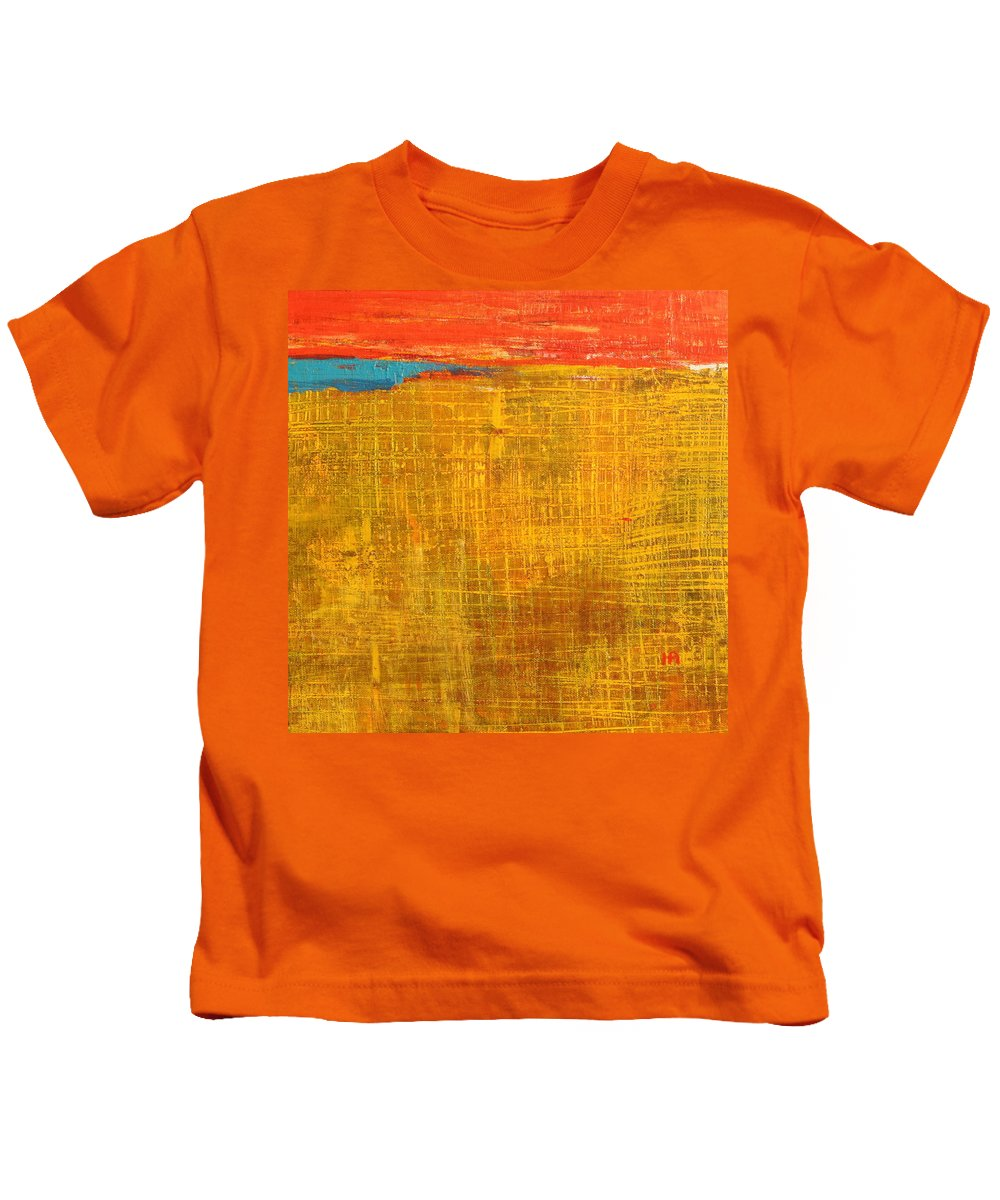 Abstract Kids T-Shirt featuring the painting Tell Me Something by Habib Ayat