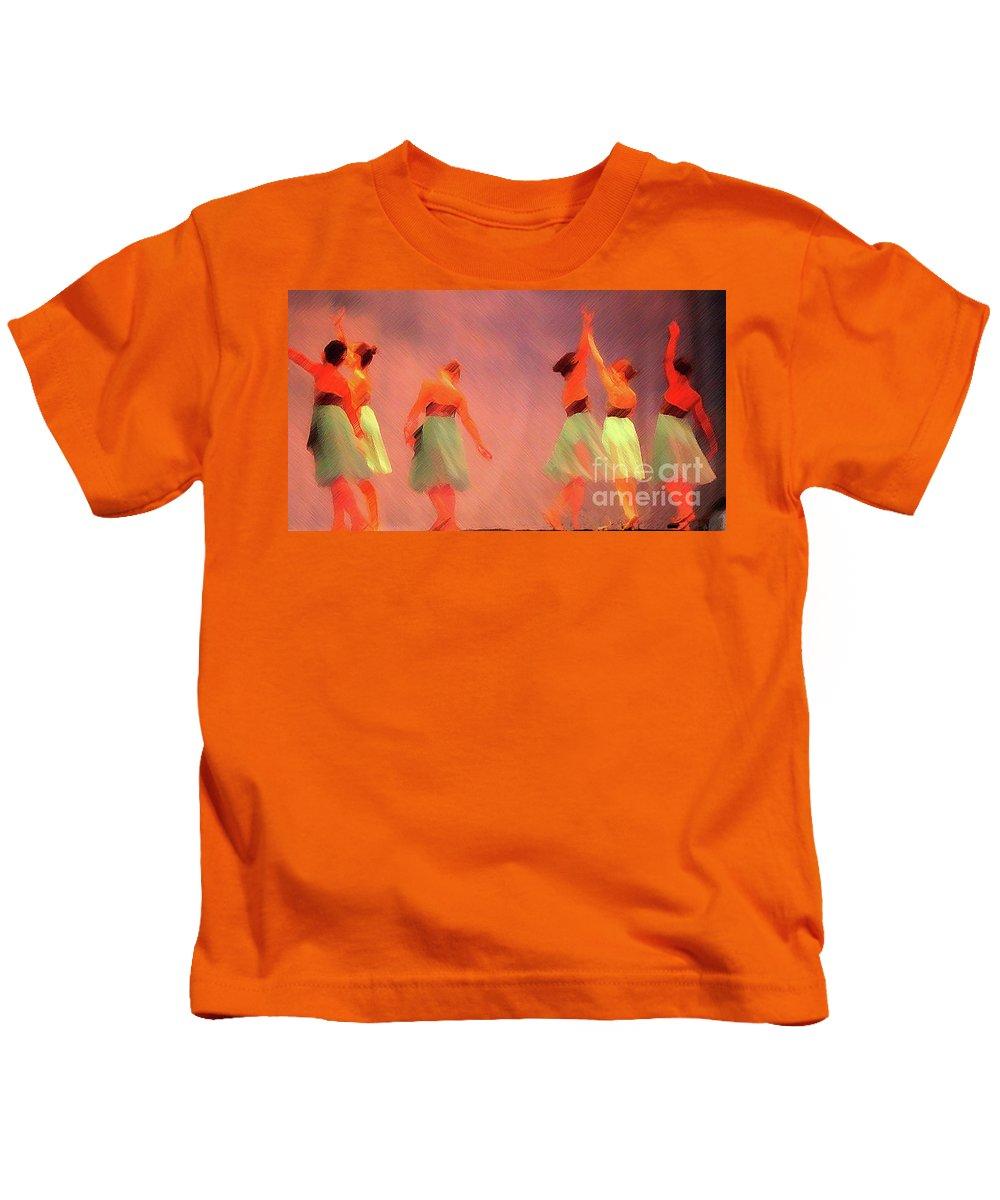 Ballet Kids T-Shirt featuring the photograph The Ballet by Jost Houk