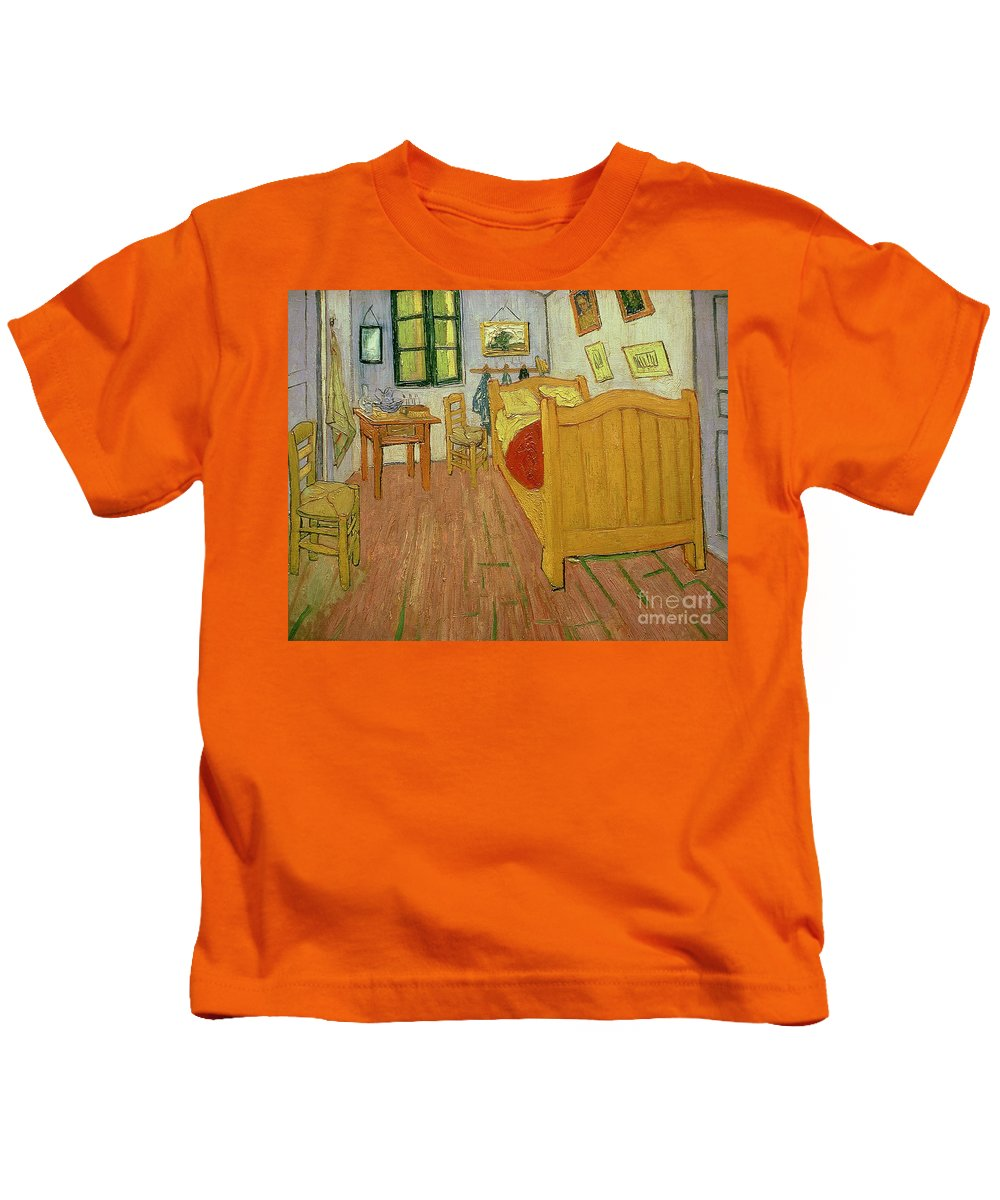 The Kids T-Shirt featuring the painting The Bedroom by Vincent van Gogh