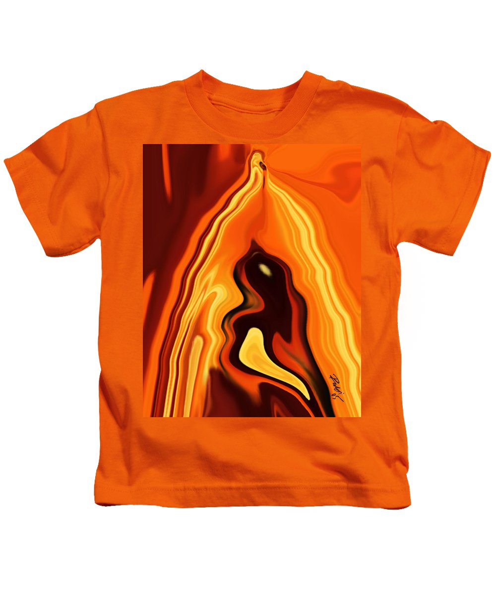 Art Kids T-Shirt featuring the digital art The Bird In The Case by Rabi Khan