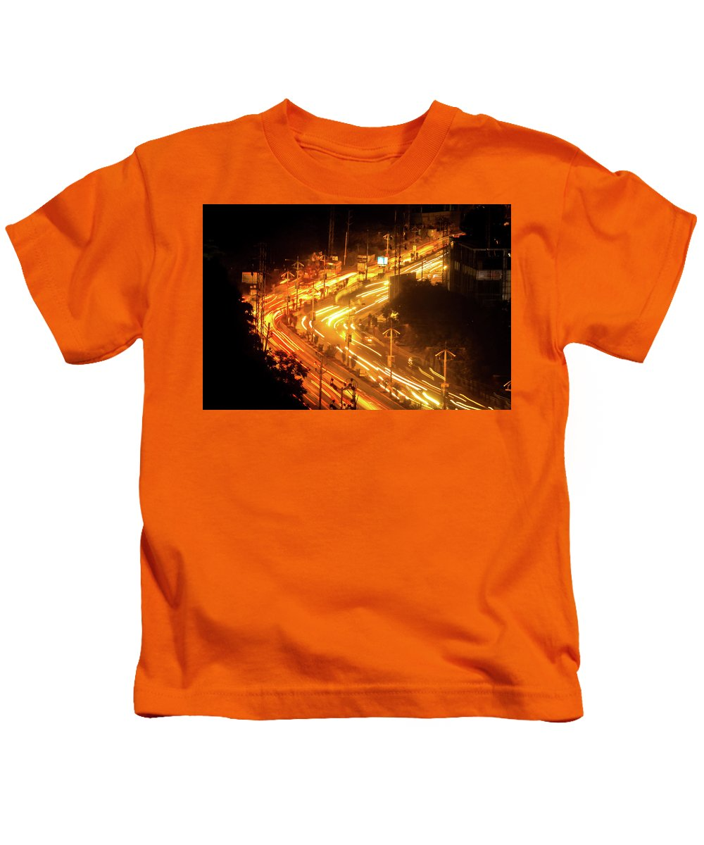 Night Kids T-Shirt featuring the photograph The Busy City by Fairytale Studios
