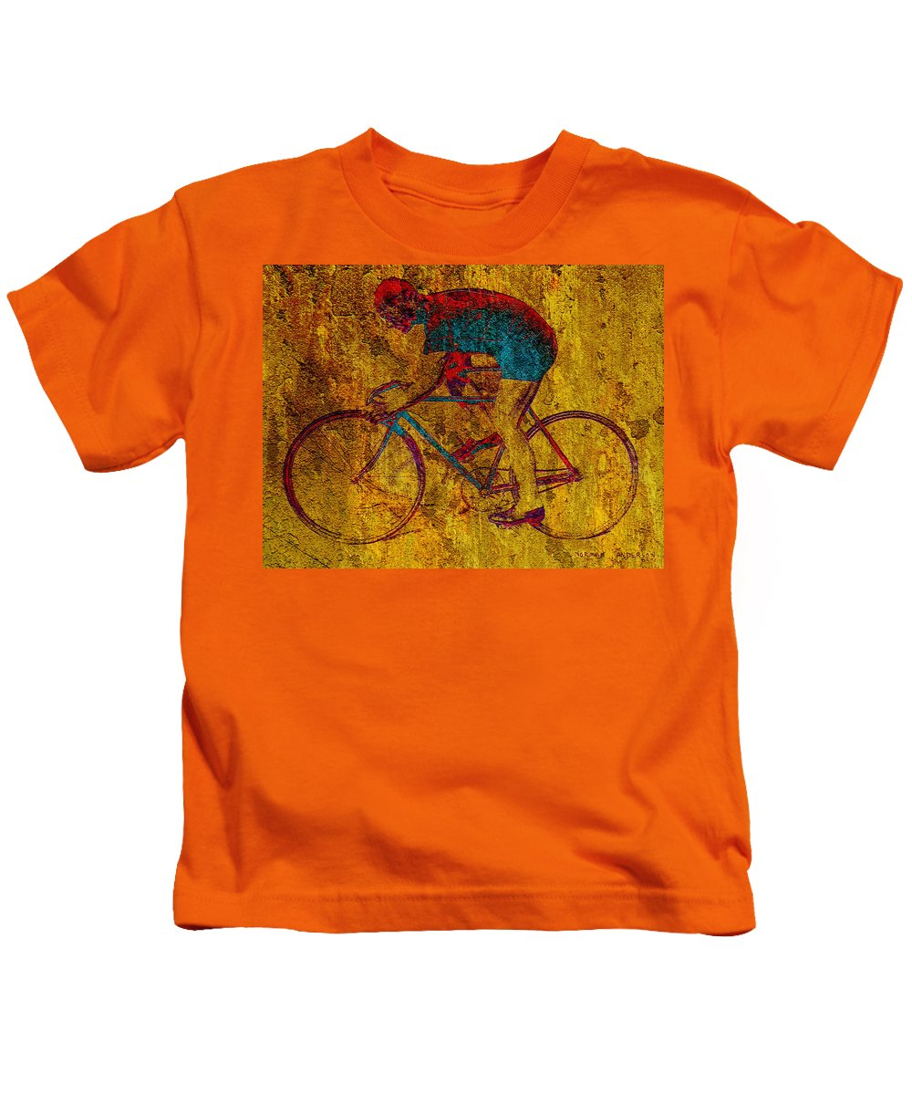 Bicycle Kids T-Shirt featuring the photograph The Cyclist by Andrew Fare