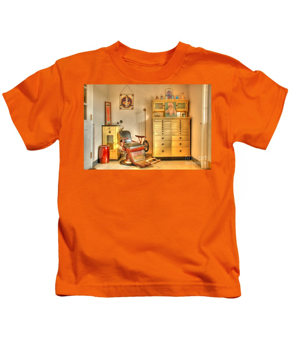 Dentist Office Kids T-Shirt featuring the photograph The Dentist Office by Tony Bazidlo