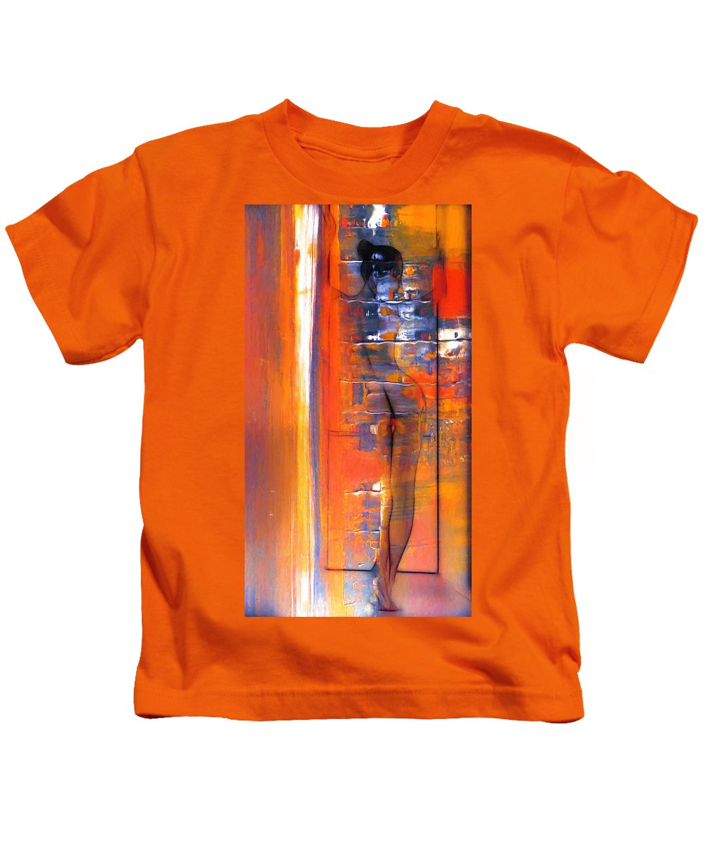 Dark Kids T-Shirt featuring the painting The Escape by Steve K