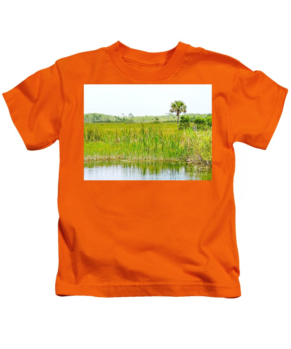 Everglades Kids T-Shirt featuring the photograph The Glades by Marilee Noland