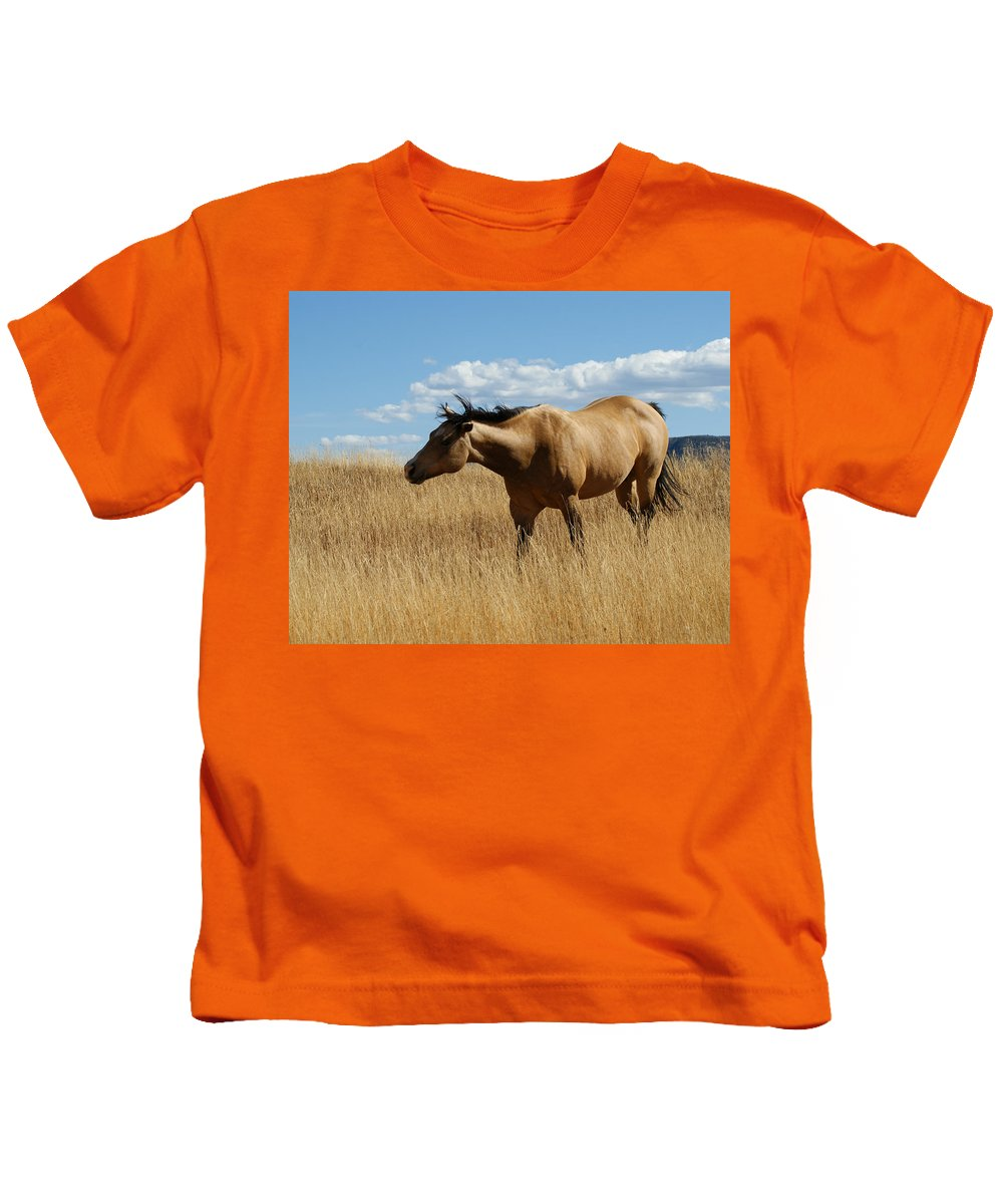 Horse Kids T-Shirt featuring the photograph The Horse by Ernie Echols