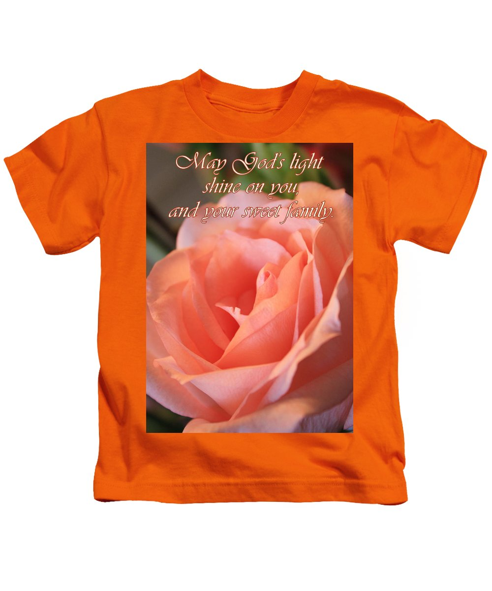 Card Kids T-Shirt featuring the photograph The Light Of God by Carol Groenen
