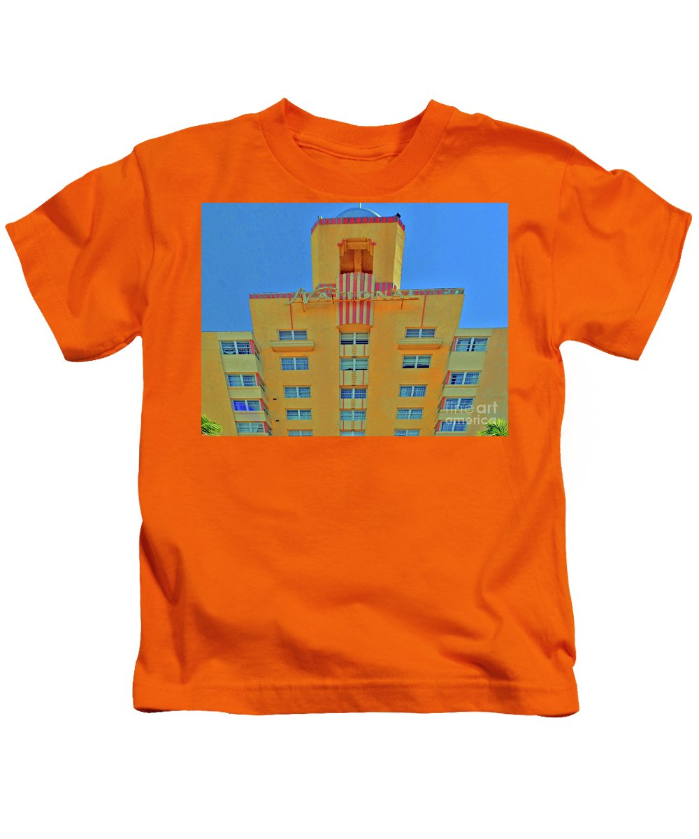 Miami Kids T-Shirt featuring the photograph The National by Jost Houk