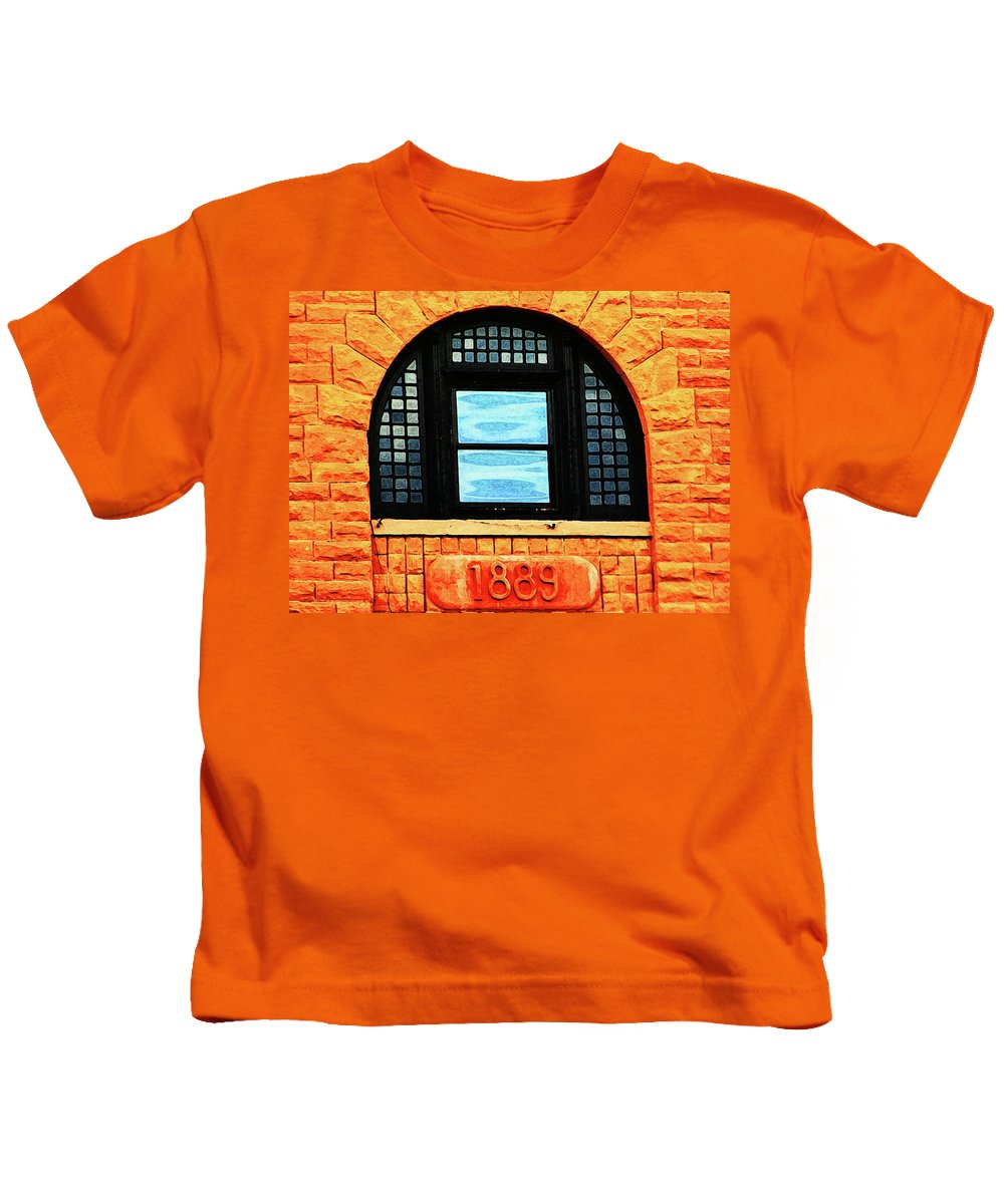 Abstract Kids T-Shirt featuring the photograph The Old Depot 1889 by Lenore Senior