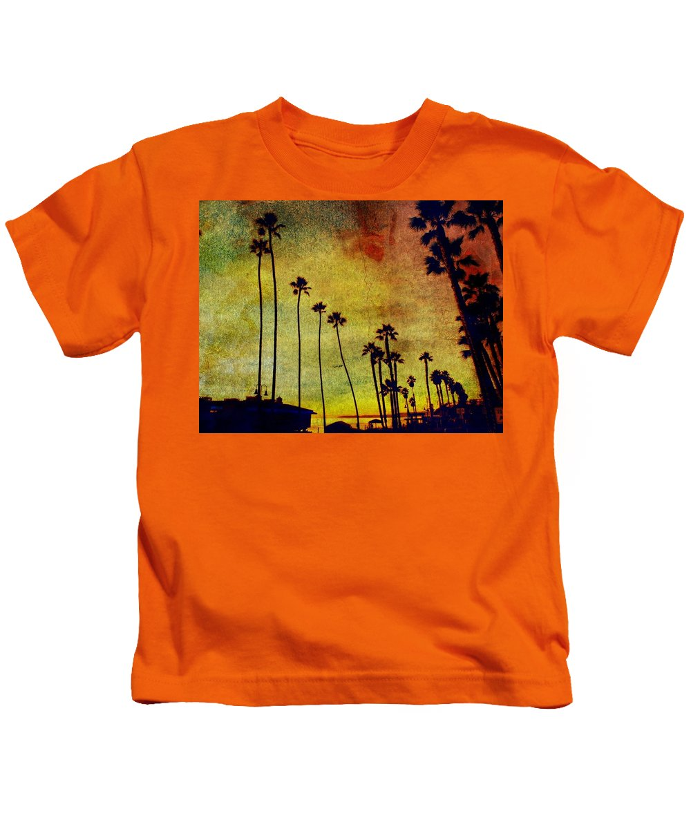 Beaches Kids T-Shirt featuring the photograph The Palms by Kevin Moore