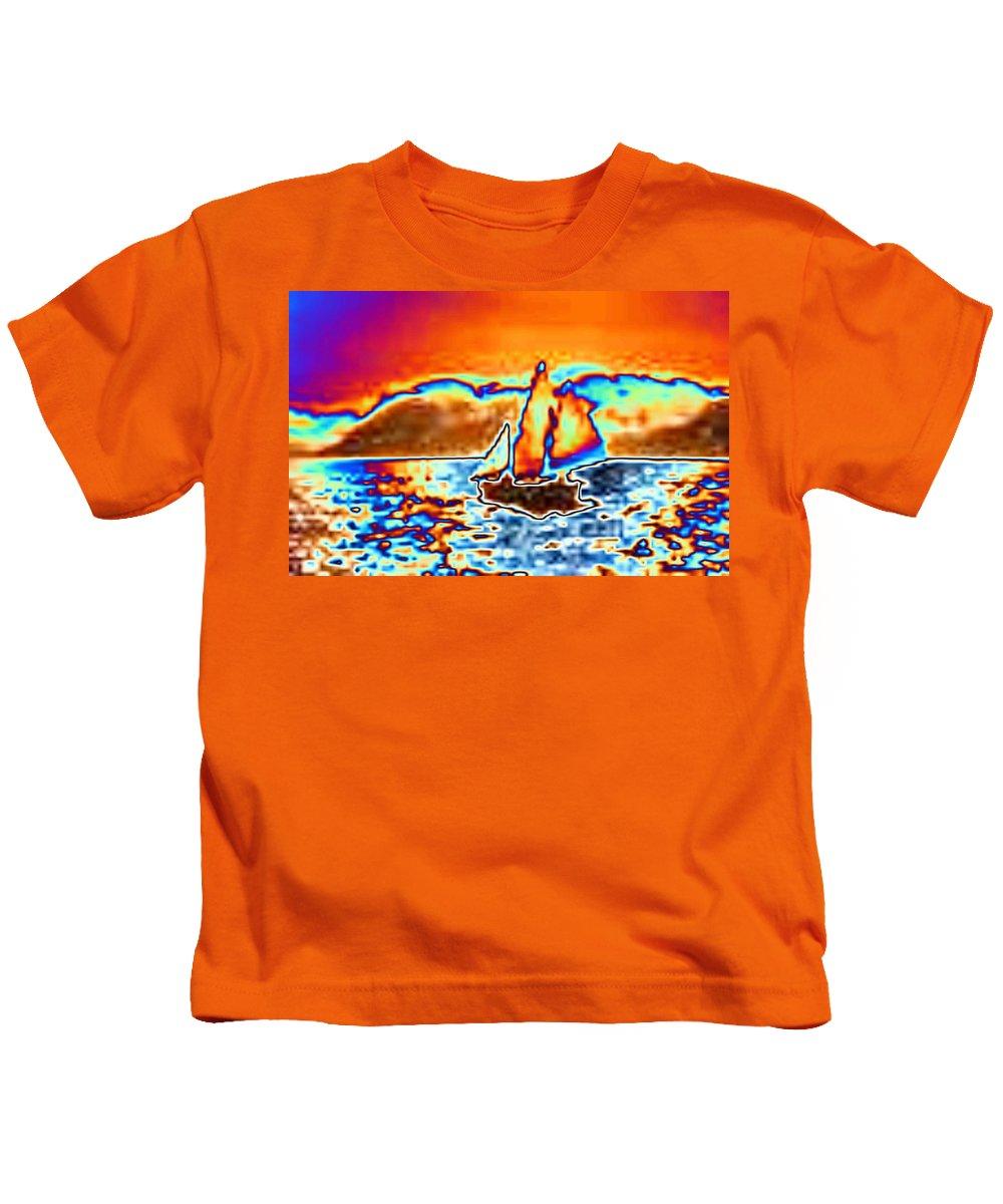 Sail Kids T-Shirt featuring the digital art The Sail by Tim Allen