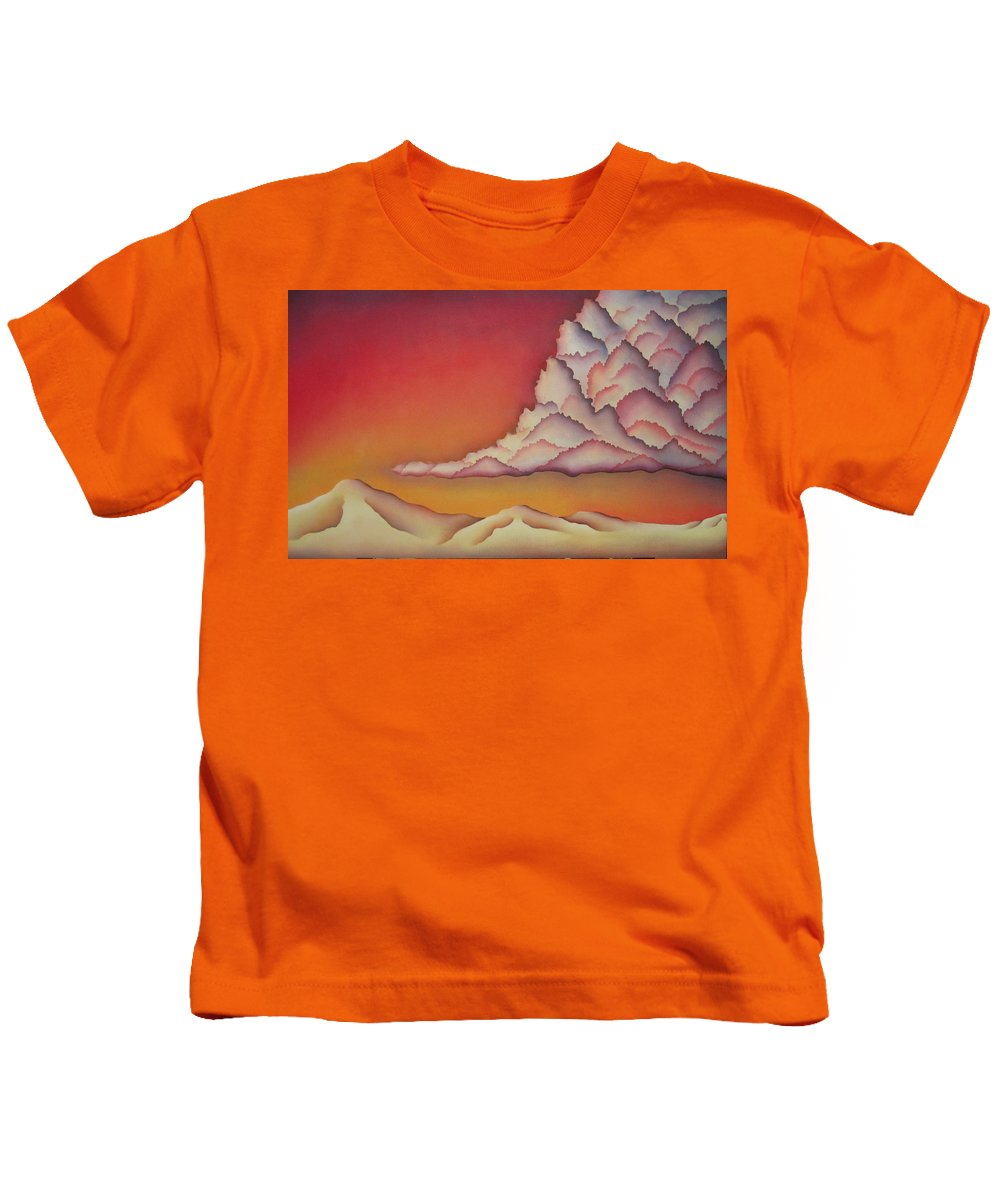 Landscape Kids T-Shirt featuring the painting Thunderhead by Jeniffer Stapher-Thomas