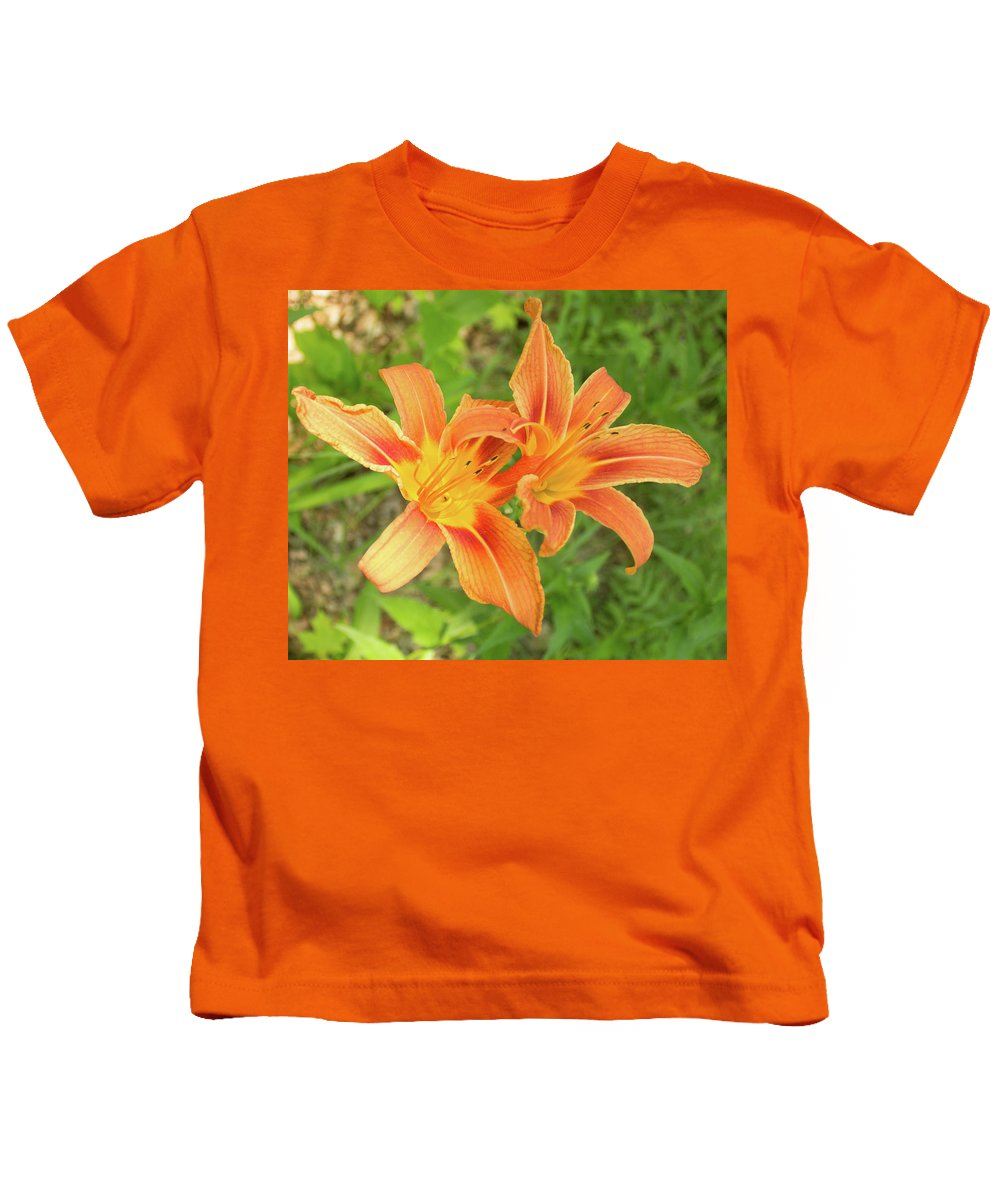 Tiger Lily Kids T-Shirt featuring the photograph Tiger Lilies by Lori Lynn Sadelack