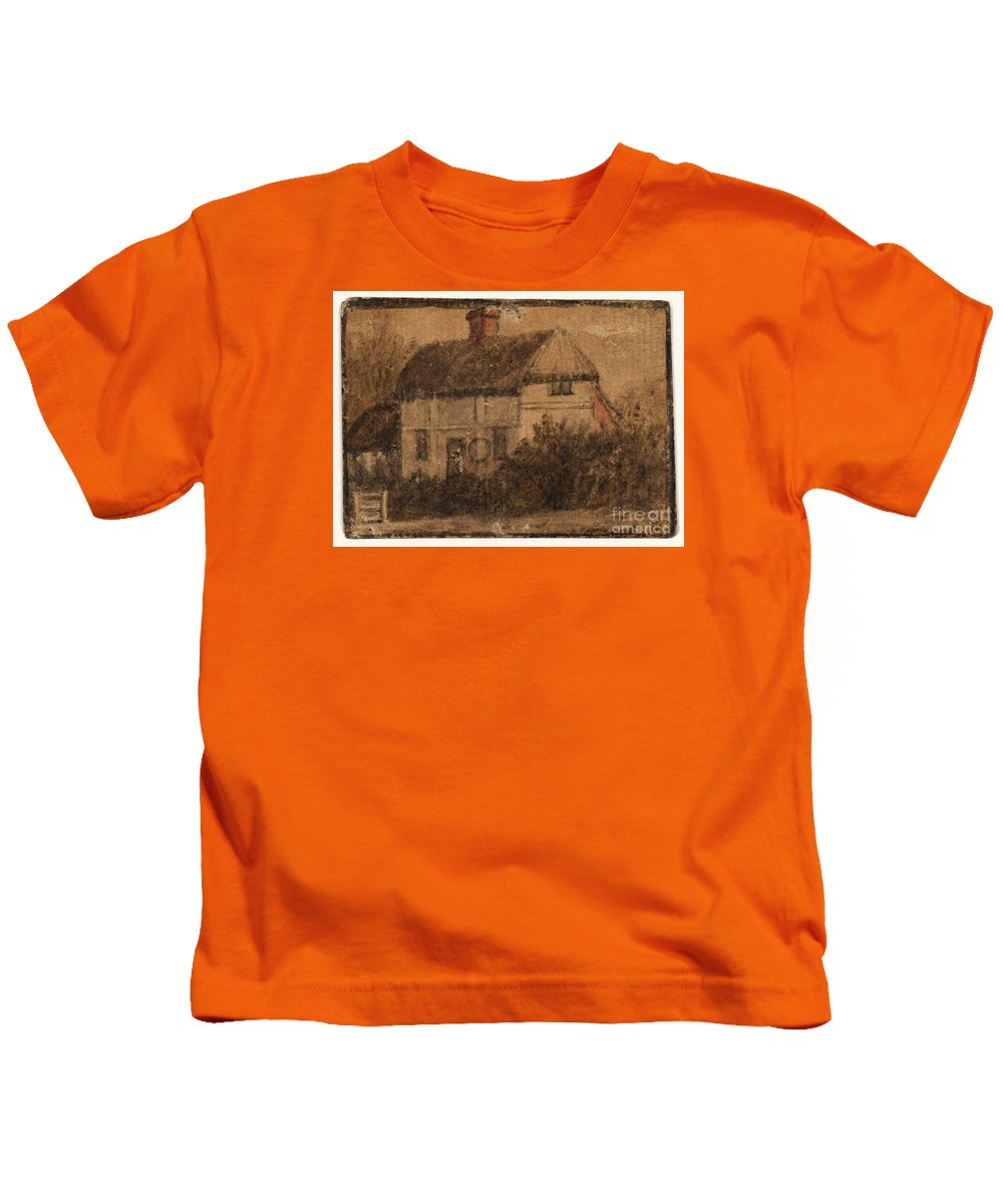 Susanna Duncombe (n�e Susanna Highmore) 1725�1812 Title A Cottage Kids T-Shirt featuring the painting Title A Cottage by MotionAge Designs