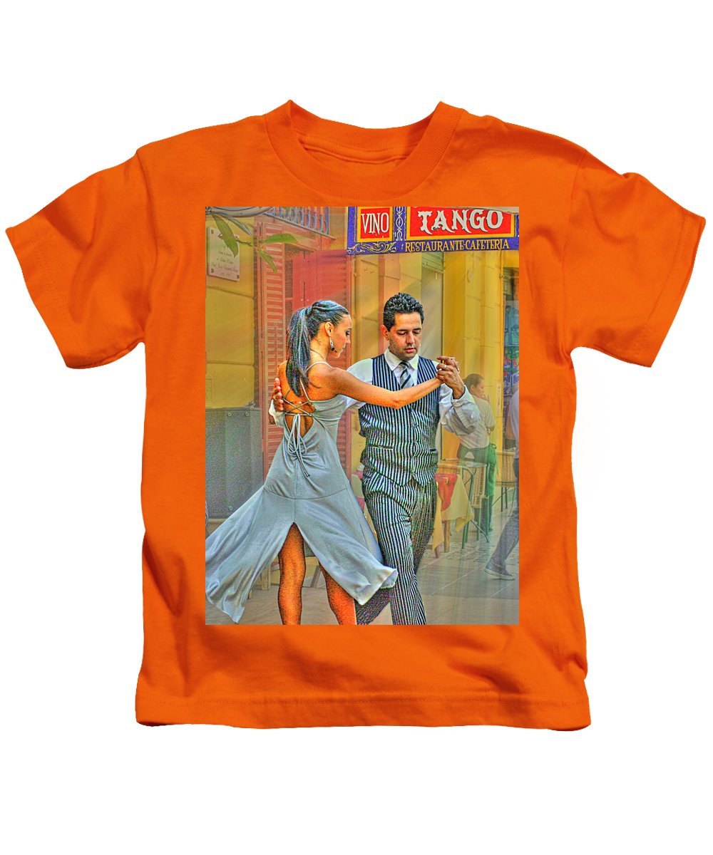 Tango Kids T-Shirt featuring the photograph Too Tango by Francisco Colon