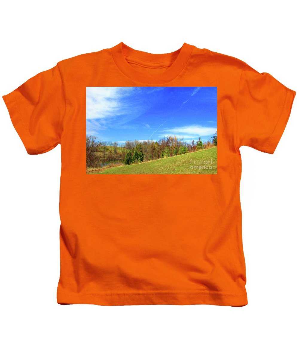 Tree Landscapes Kids T-Shirt featuring the photograph Spring Scenes #1 by Jarryl Bhagwat