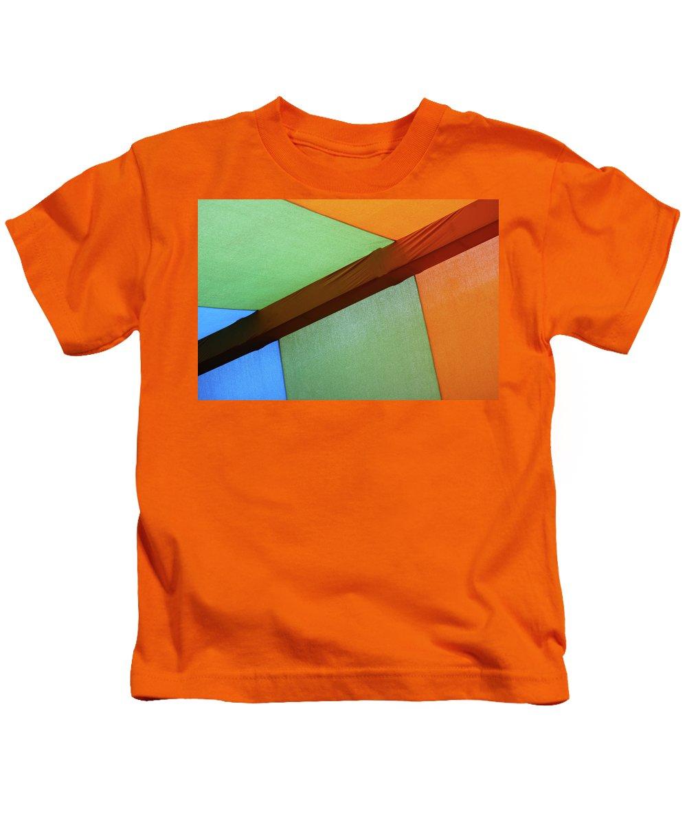 Tri Kids T-Shirt featuring the photograph Tri Color Minimal by Prakash Ghai