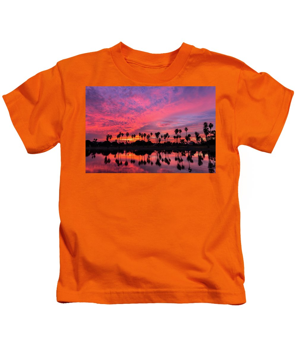 Red Kids T-Shirt featuring the photograph Tropical Sunrise by Creigh Photography