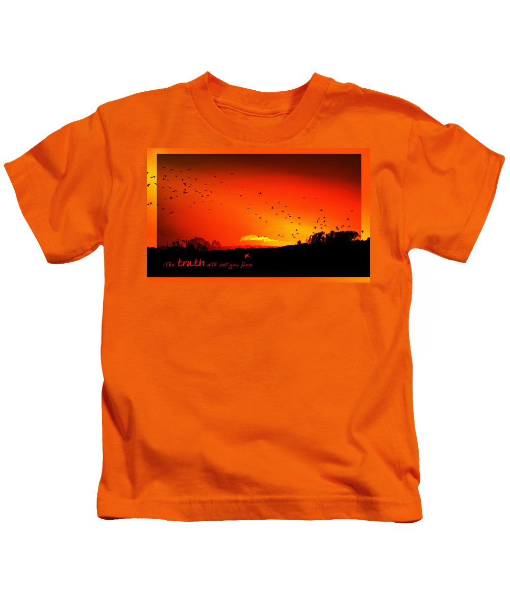 Landscape Kids T-Shirt featuring the photograph Truth by Holly Kempe