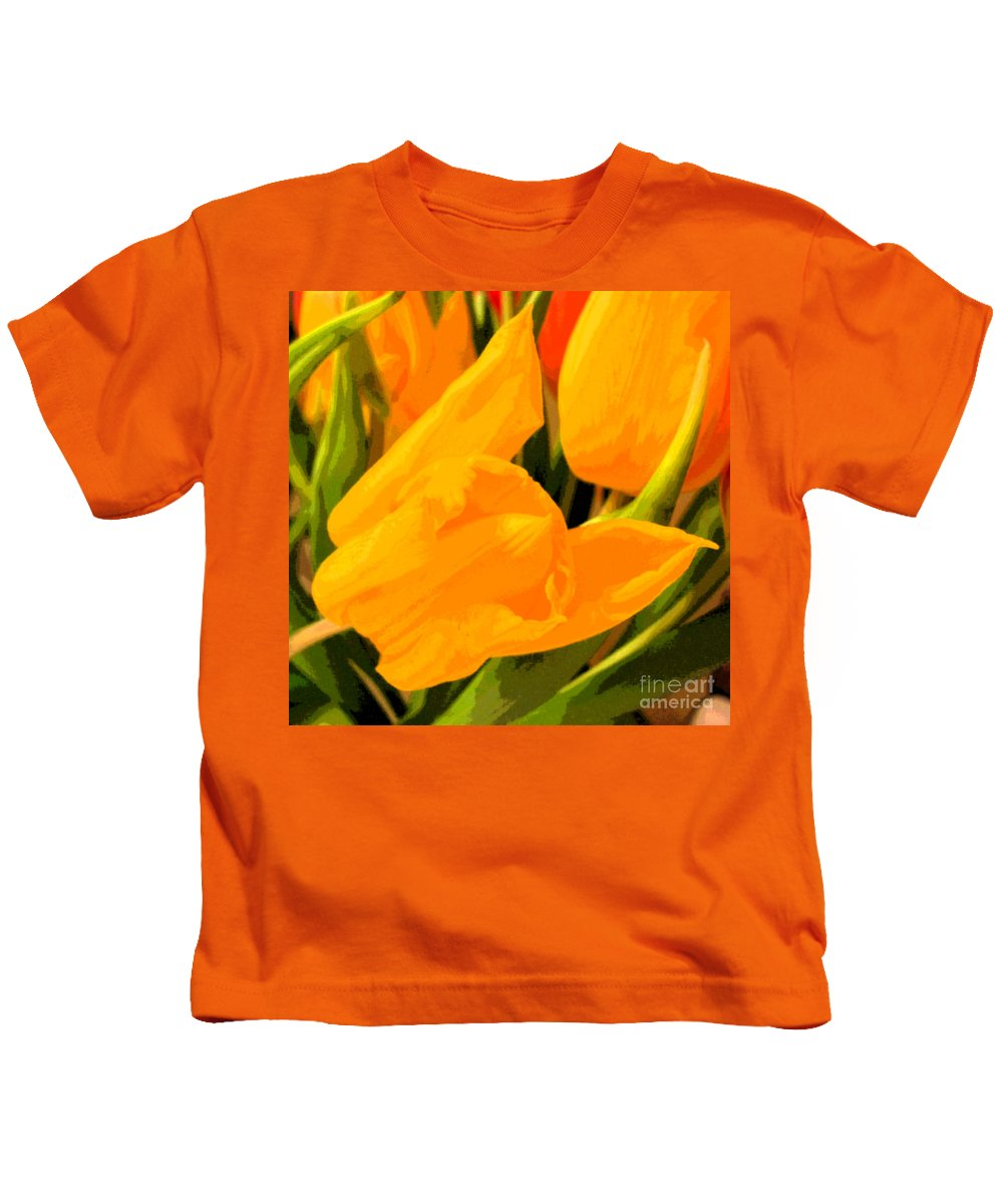 Tulip Kids T-Shirt featuring the photograph Tulips by Amanda Barcon