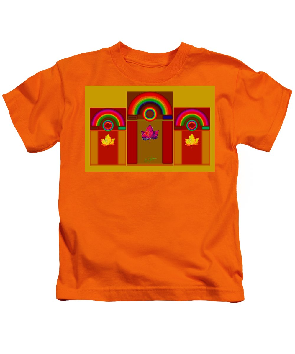 Classical Kids T-Shirt featuring the digital art Tuscan Harvest by Charles Stuart