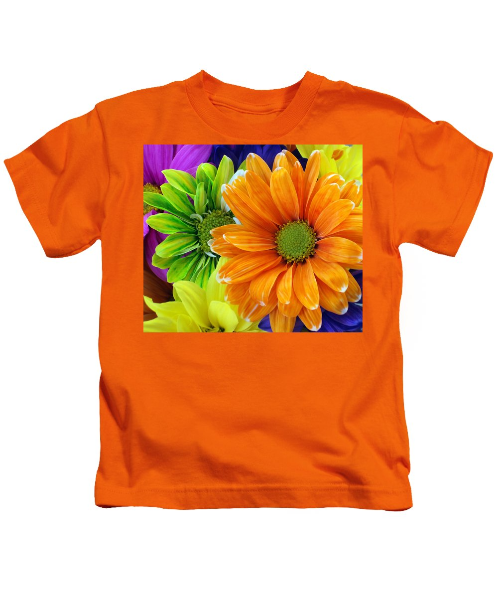 Orange Kids T-Shirt featuring the photograph Upstaged By Orange by Angelina Vick