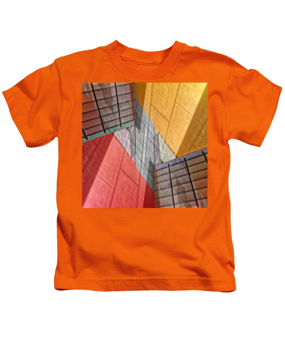 Buildings Kids T-Shirt featuring the photograph Variation On A Theme by Wayne Sherriff