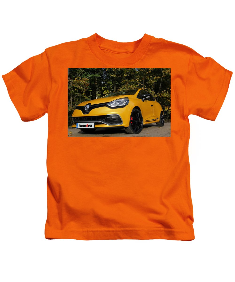 Vehicles Kids T-Shirt featuring the digital art Vehicles by Dorothy Binder