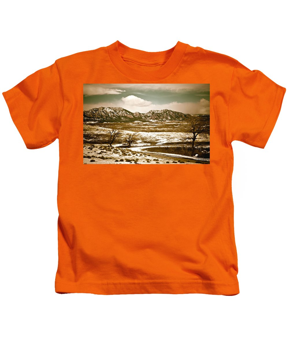 Landscape Kids T-Shirt featuring the photograph Flatironsview From Superior by Marilyn Hunt