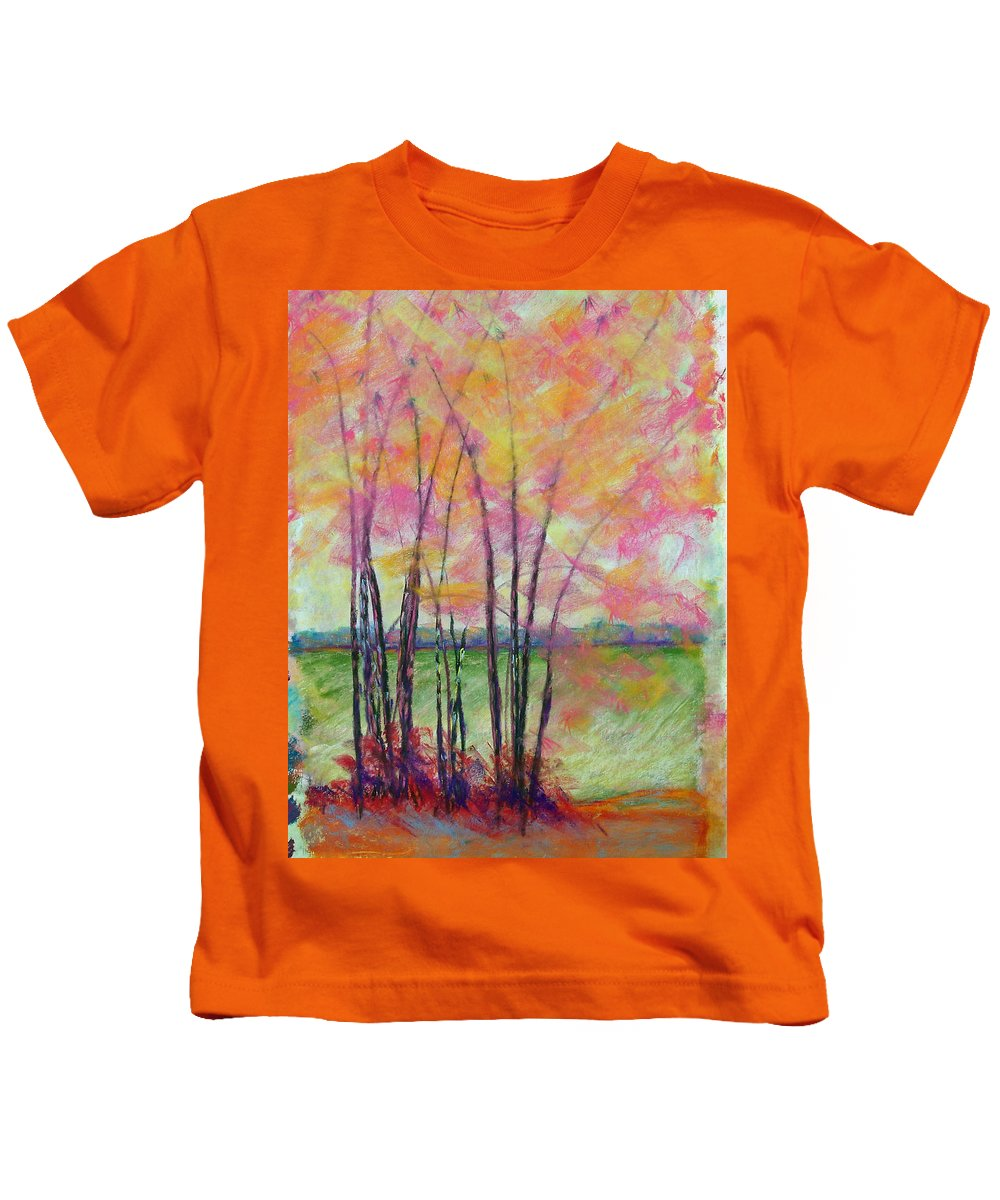 Edison Kids T-Shirt featuring the painting View Through Bamboo by Laurie Paci
