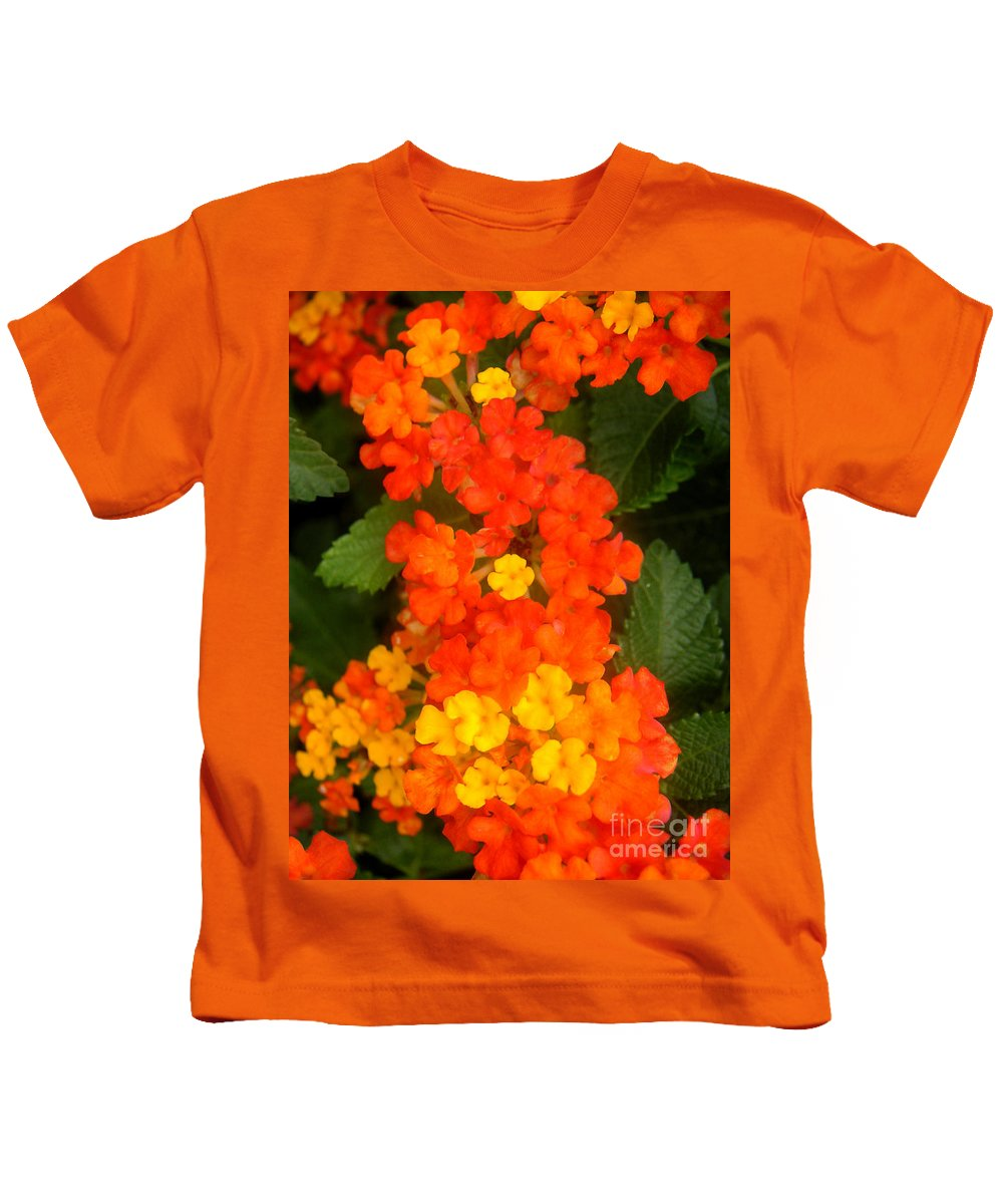 Nature Kids T-Shirt featuring the photograph Volcanic Display by Lucyna A M Green