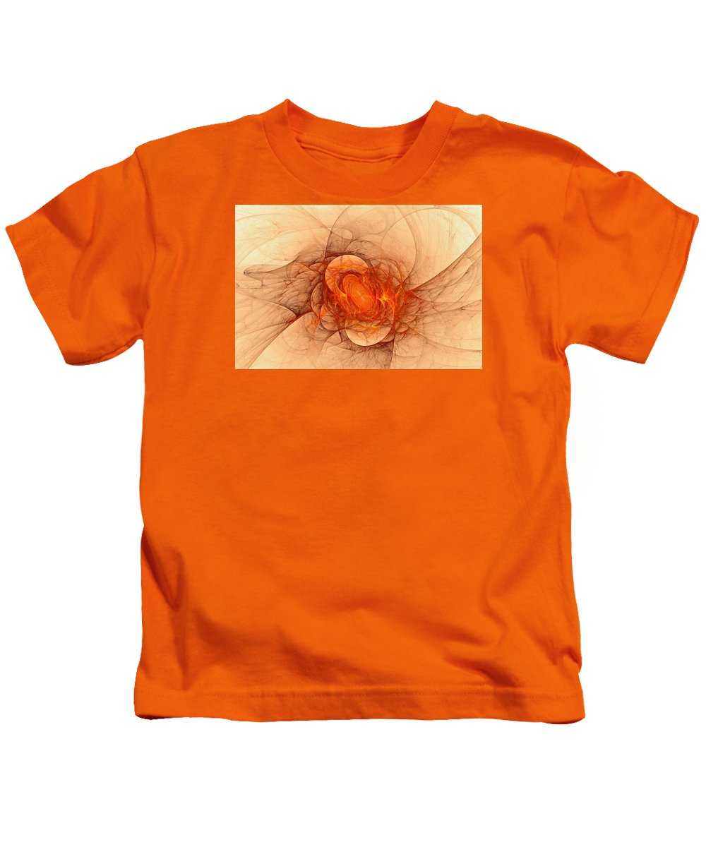 Kids T-Shirt featuring the digital art Vulcans Fire by Doug Morgan