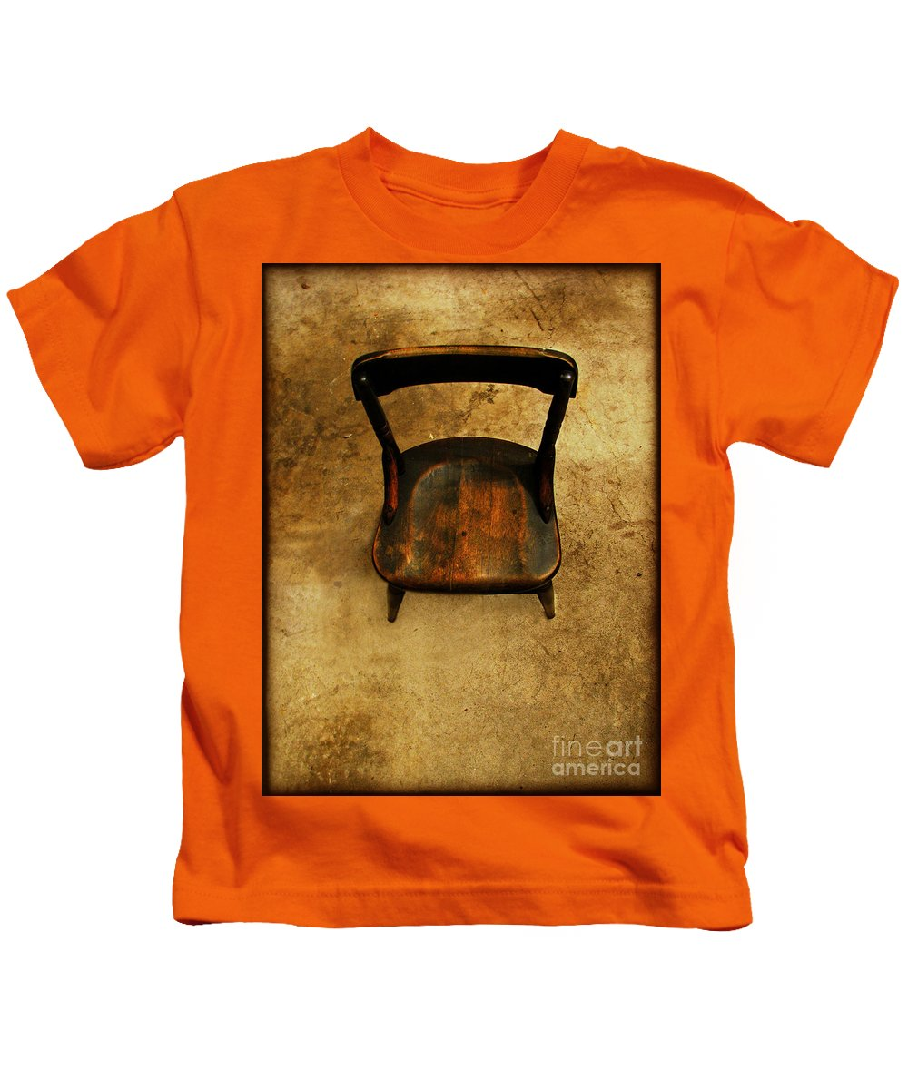 Alone Kids T-Shirt featuring the photograph Waiting To Say Goodbye by Dana DiPasquale