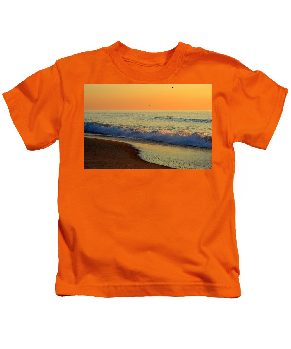 Ocean Kids T-Shirt featuring the photograph Walk With Me by Dianne Cowen