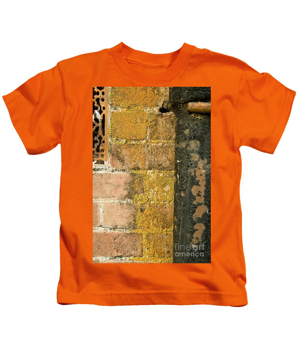 California Scenes Kids T-Shirt featuring the photograph Weathered Wall by Norman Andrus