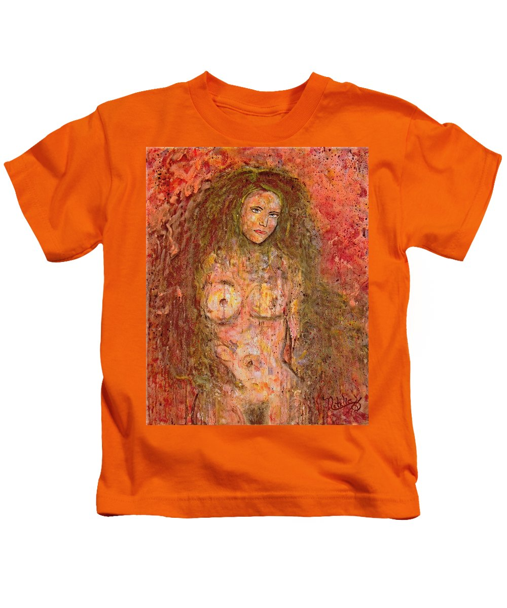 Nude Kids T-Shirt featuring the painting Wild Thing by Natalie Holland
