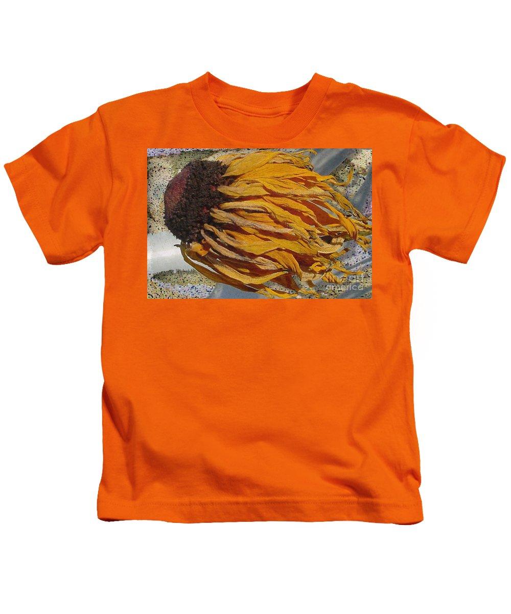 Digital Art Kids T-Shirt featuring the digital art Winter Flower by Ron Bissett