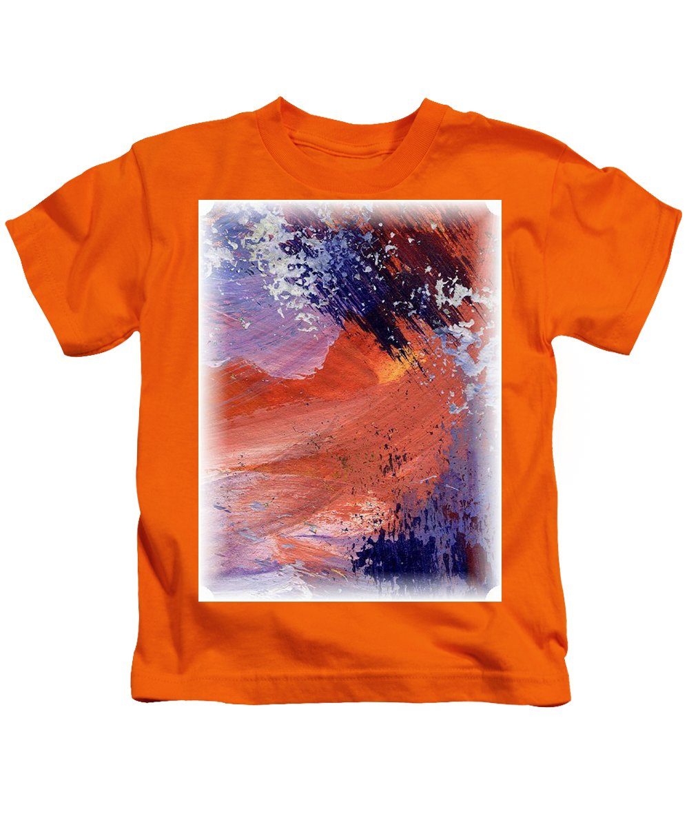 Abstract Mountains Kids T-Shirt featuring the painting Word Potter by Melody Horton Karandjeff