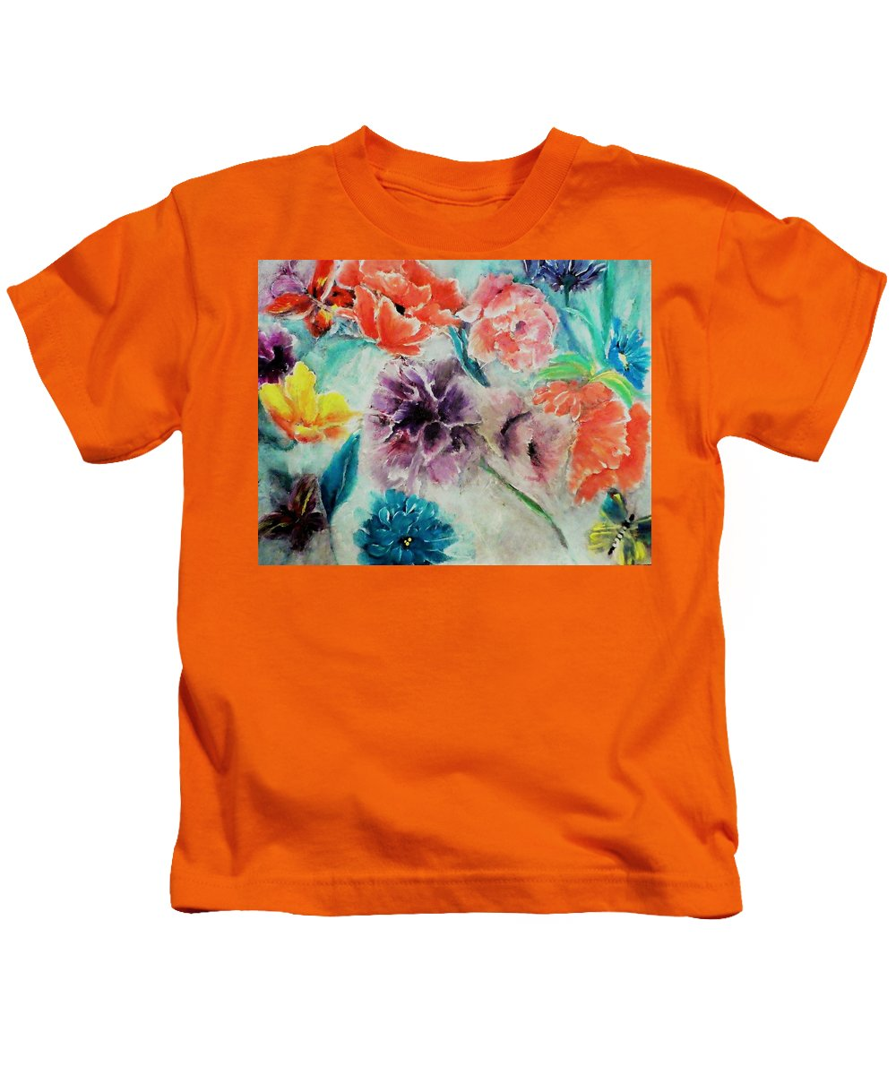 Wrap Kids T-Shirt featuring the digital art Wrap It Up In Spring By Lisa Kaiser by Lisa Kaiser