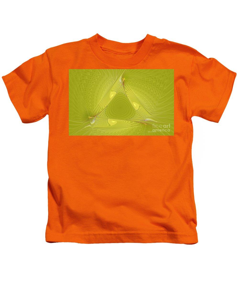 Fractal Kids T-Shirt featuring the photograph Yellow Anyone by Deborah Benoit