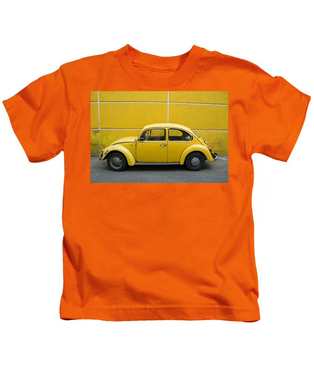 Yellow Kids T-Shirt featuring the photograph Yellow Bug by Skip Hunt