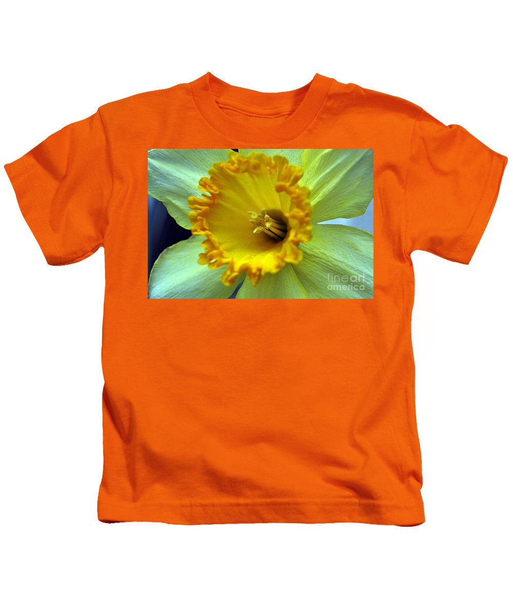 Clay Kids T-Shirt featuring the photograph Yellow Floral by Clayton Bruster