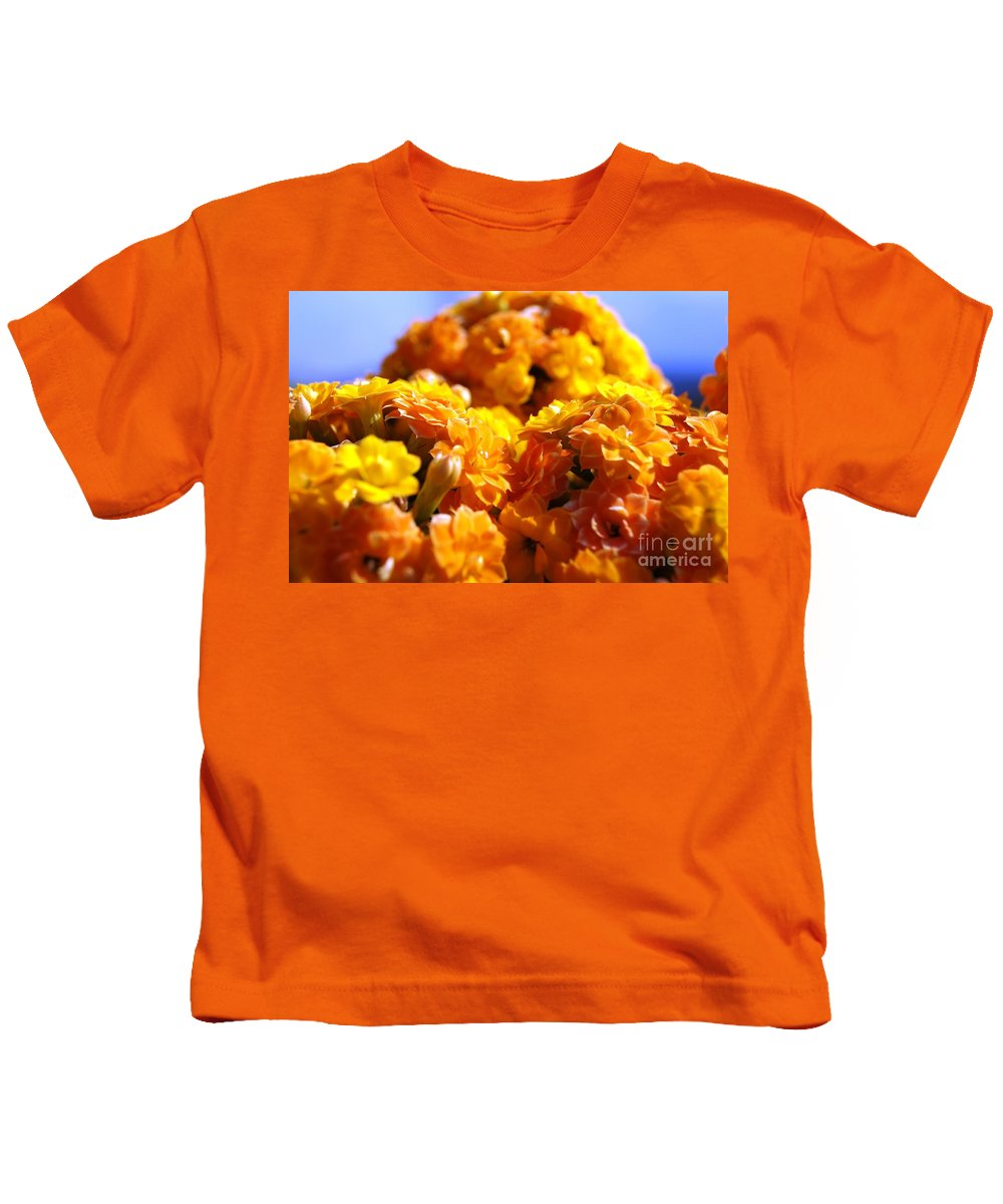Landscape Kids T-Shirt featuring the photograph Yellow Flowers by Kenneth Hayes