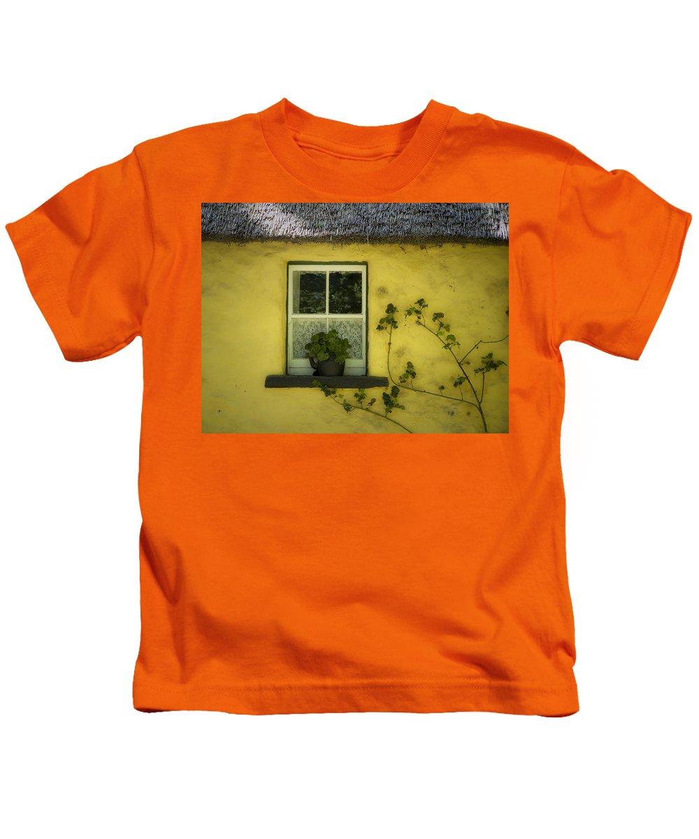 Irish Kids T-Shirt featuring the photograph Yellow House County Clare Ireland by Teresa Mucha