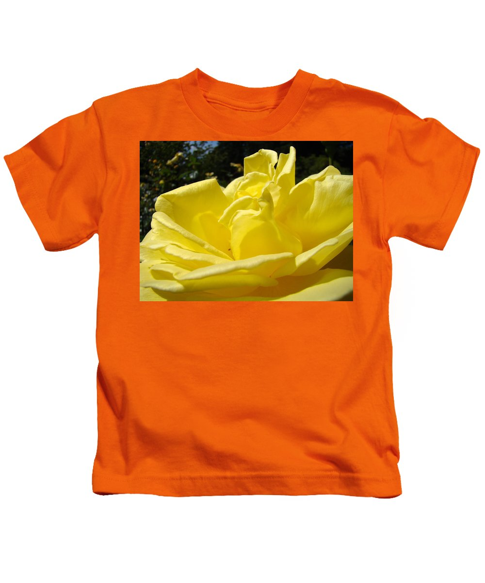 Rose Kids T-Shirt featuring the photograph Yellow Rose Sunny Art Prints Roses Flowers Baslee Troutman by Baslee Troutman