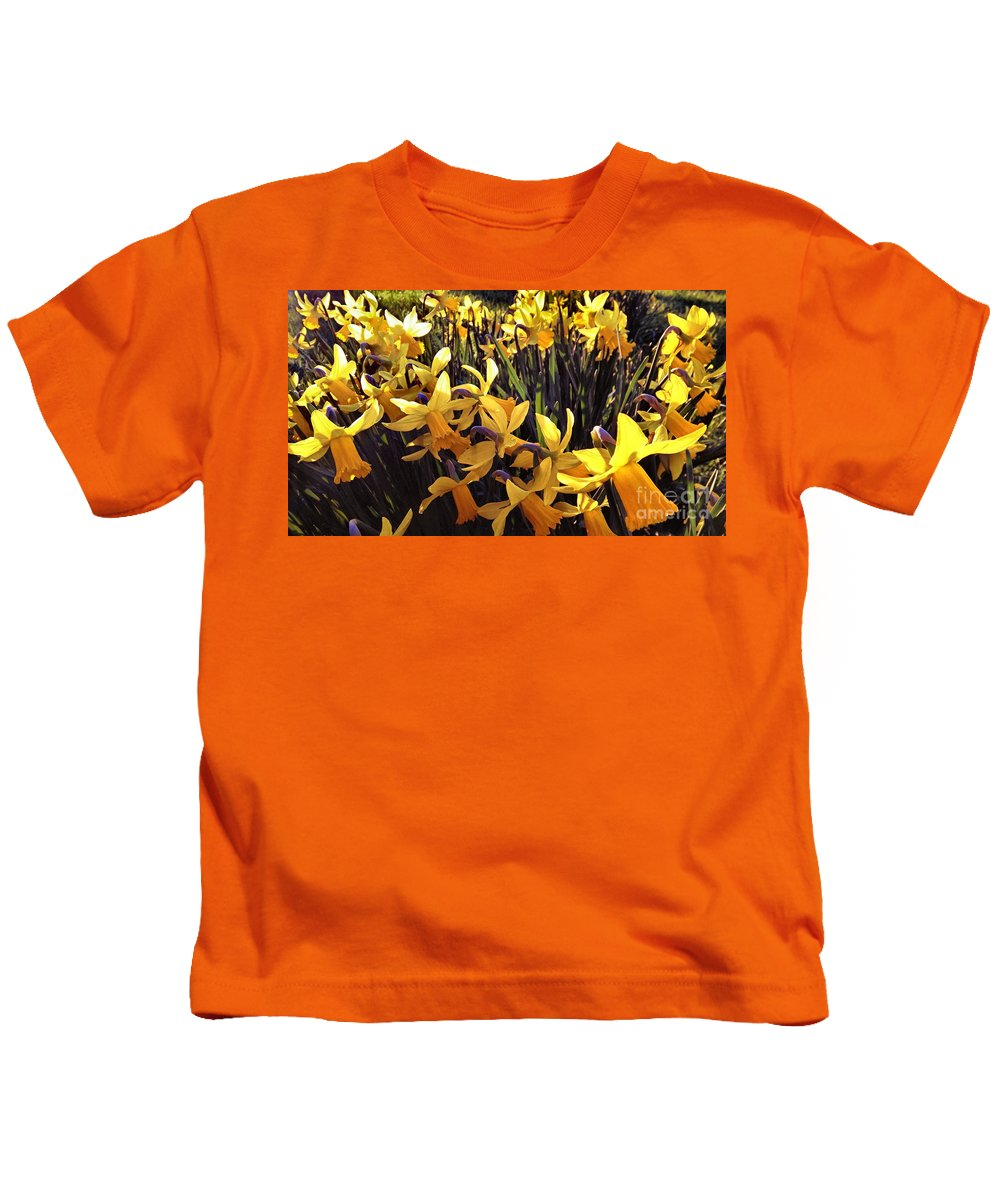 Yellow Kids T-Shirt featuring the photograph Yellow Spring Daffodils by Melissa Stephenson