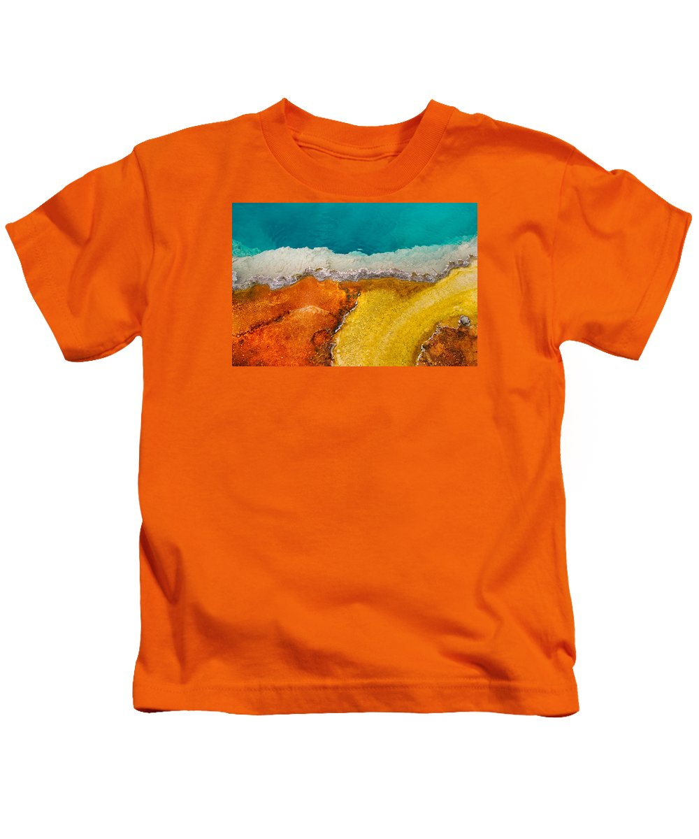 Pool Kids T-Shirt featuring the photograph Yellowstone Pool by Grant Groberg
