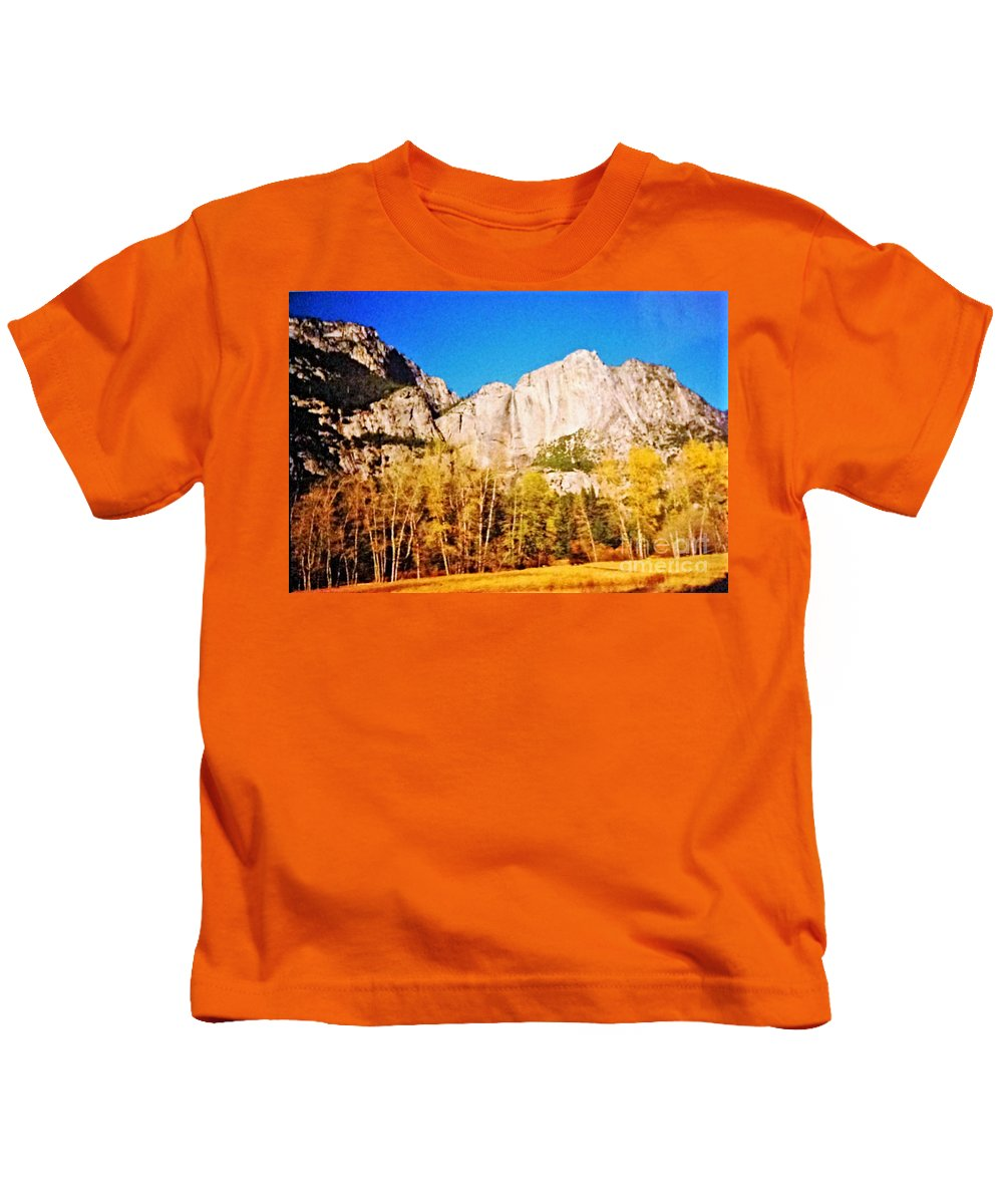 Photograph Kids T-Shirt featuring the photograph Yosemite National Park California by Debra Lynch