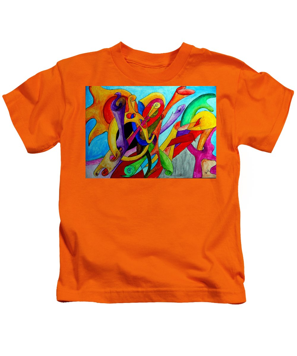 Yourname Kids T-Shirt featuring the painting Yourname by Helmut Rottler