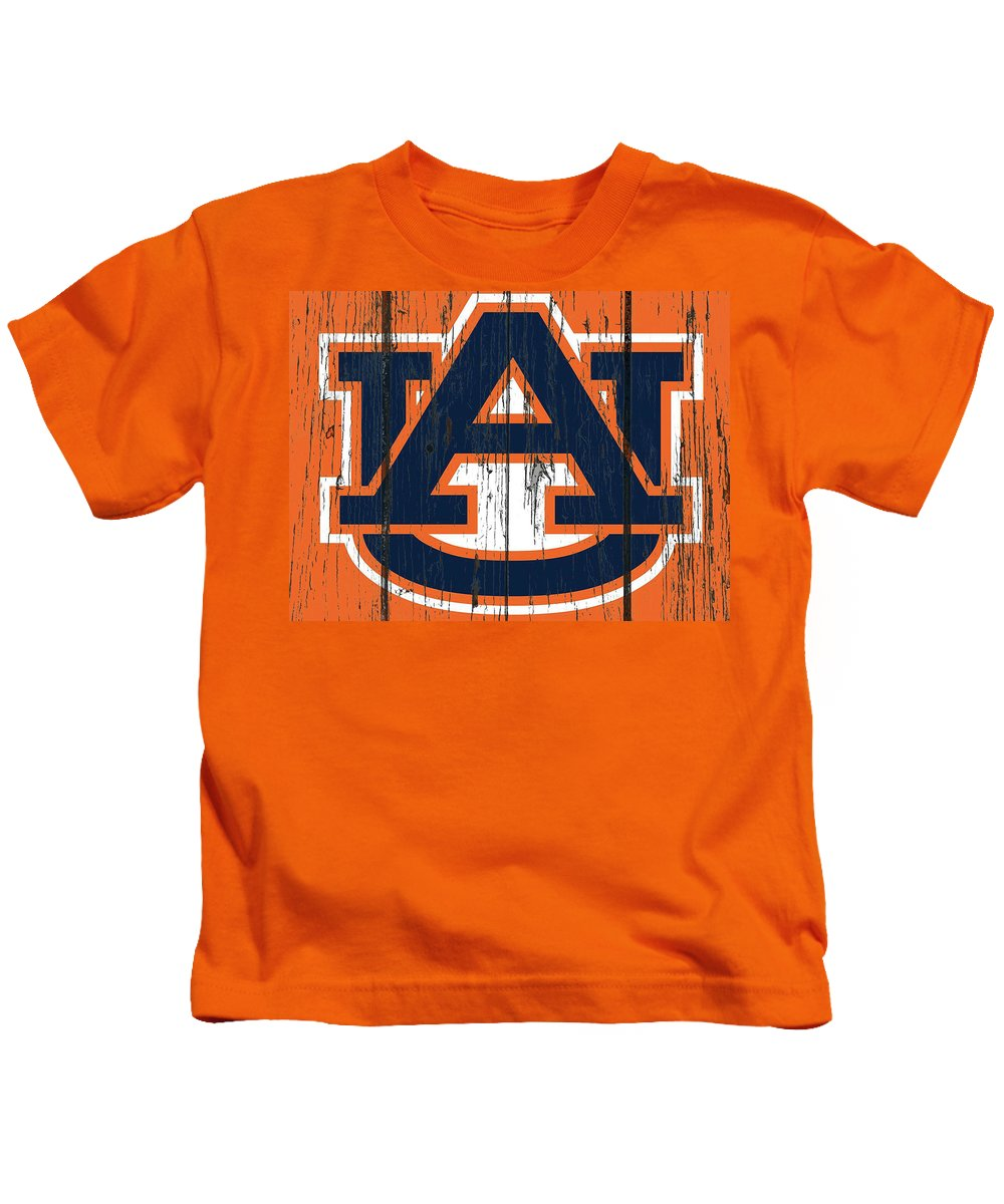 Auburn Tigers Kids T-Shirt featuring the mixed media Auburn Tigers 1c by Brian Reaves
